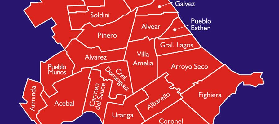 Mapas De Rosario Turismo Plano Urbano Plano De Accesos Plano Por Departamenos Mapa De